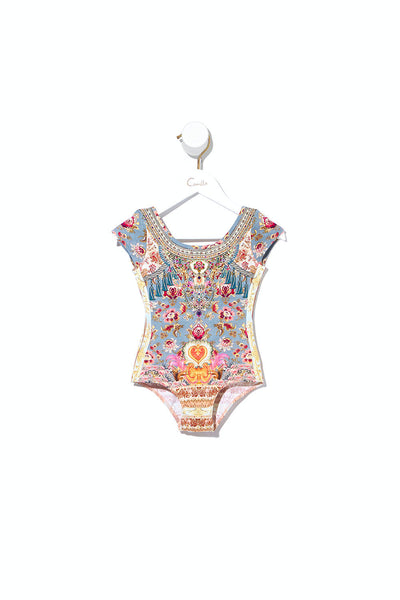 KIDS SCOOP BACK BODYSUIT JEANNE QUEEN