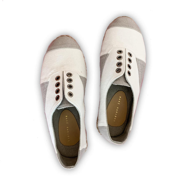 LOTUS White Casual Sneak Espadrille