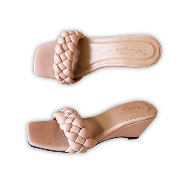 NEBULA Old Rose Wedge Sandals