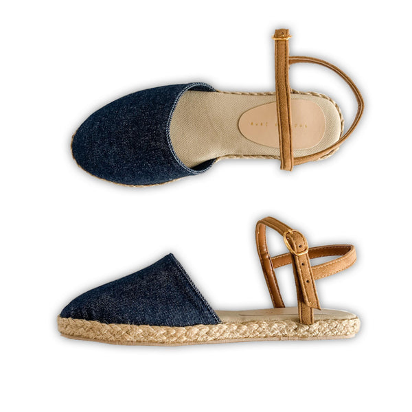 MAGNOLIA Classic Denim Close Toe Sandals