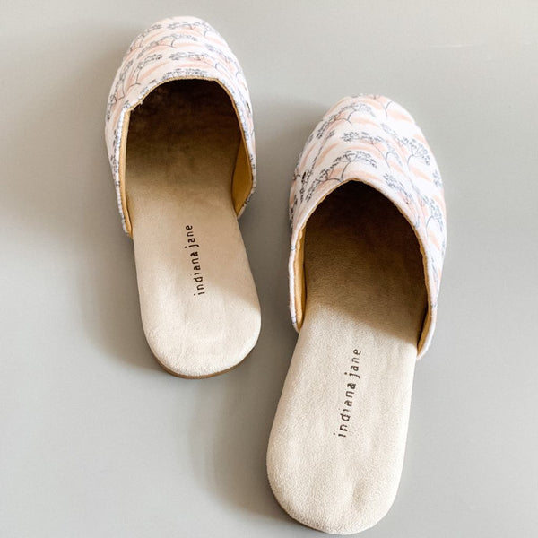 COTTON Bone Dandelion Lounge Slippers