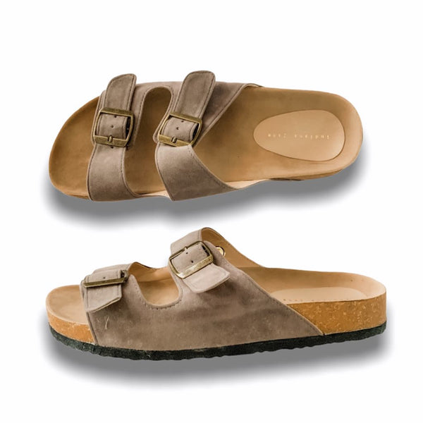 HIS YANKEES Gray Elegant Flat Slides- Men
