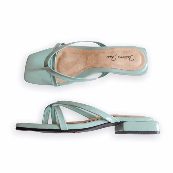 VIENNA Mint Slide Low Heels