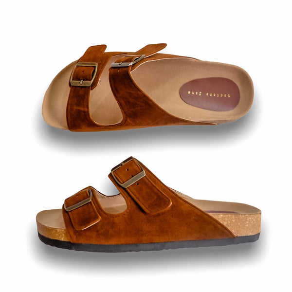 HIS YANKEES Brown Elegant Flat Slides- Men
