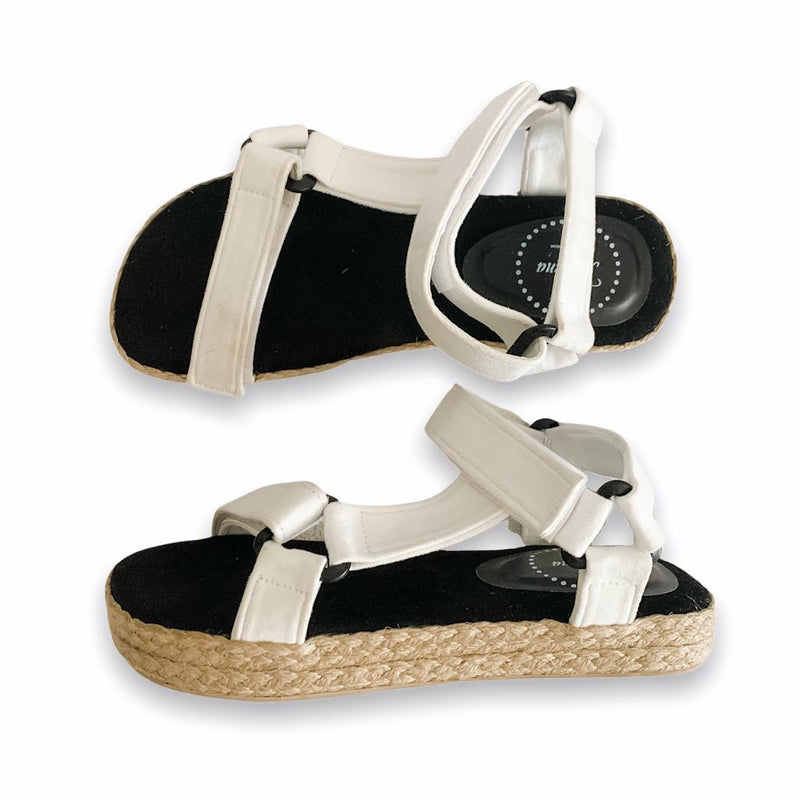NAIROBI White Abaca Low-Platform Sandals