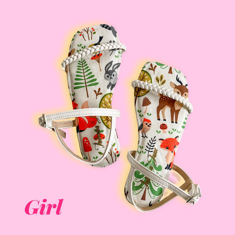 CITRINE White Forest Printed Flats (Kids)