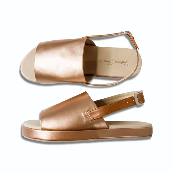 "DELILAH Copper 1"" Platform Sandals"