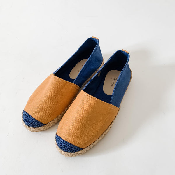 HER KINDNESS Ladies Mustard/Navy Espadrille Two-Tone