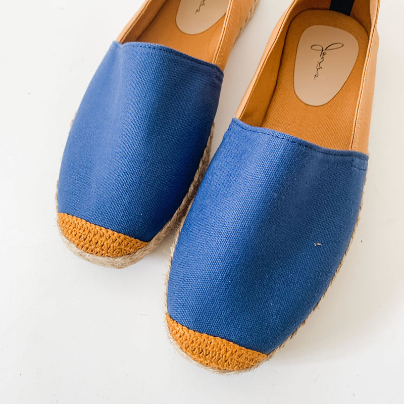 HIS KINDNESS Mens Navy/Tan Espadrille Two-Tone