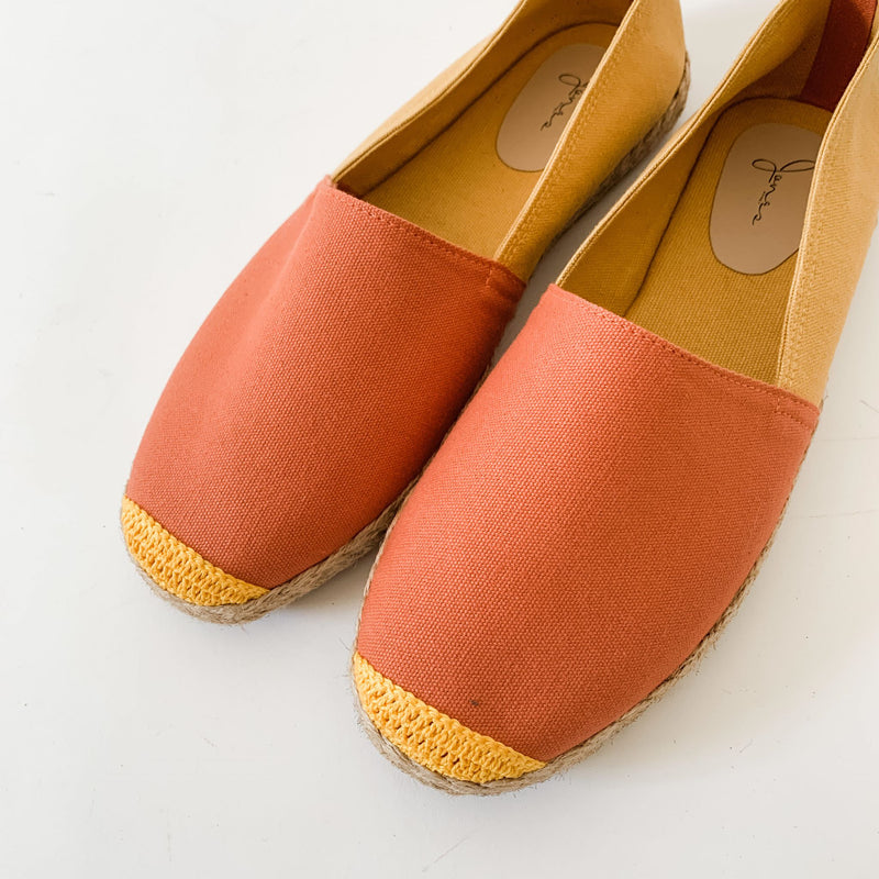 HIS KINDNESS Mens Salmon/Mustard Espadrille Two-Tone