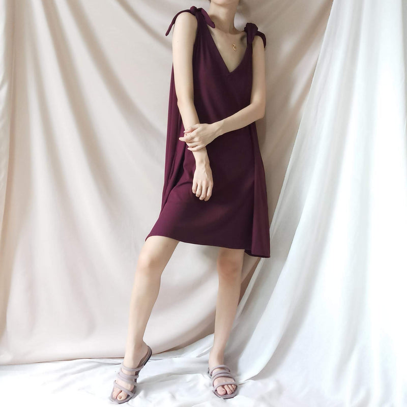 BREEZY Maroon Multiway Soft Ribbed Dress