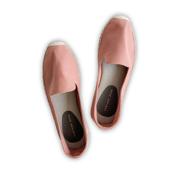 AZELEA Blush Canvas Espadrilles