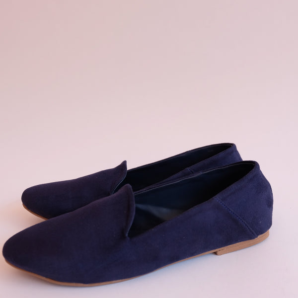 CAPPUCCINO Navy Soft Lounge Dolly Shoes