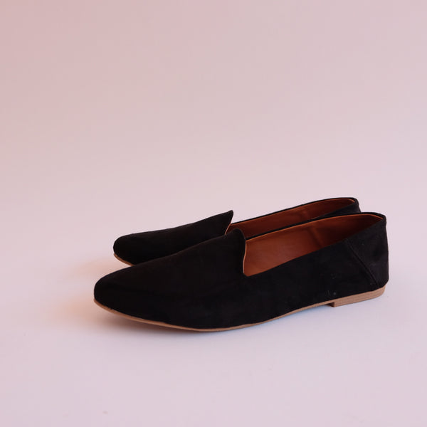 CAPPUCCINO Black Soft Lounge Dolly Shoes