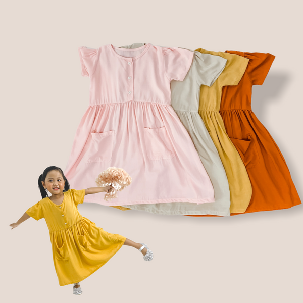 ELSA Cotton Linen Kids Dress