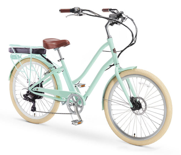 AO Women's Bicycle Co. Frida 500W 7 Speed Electric Hybrid Cruiser