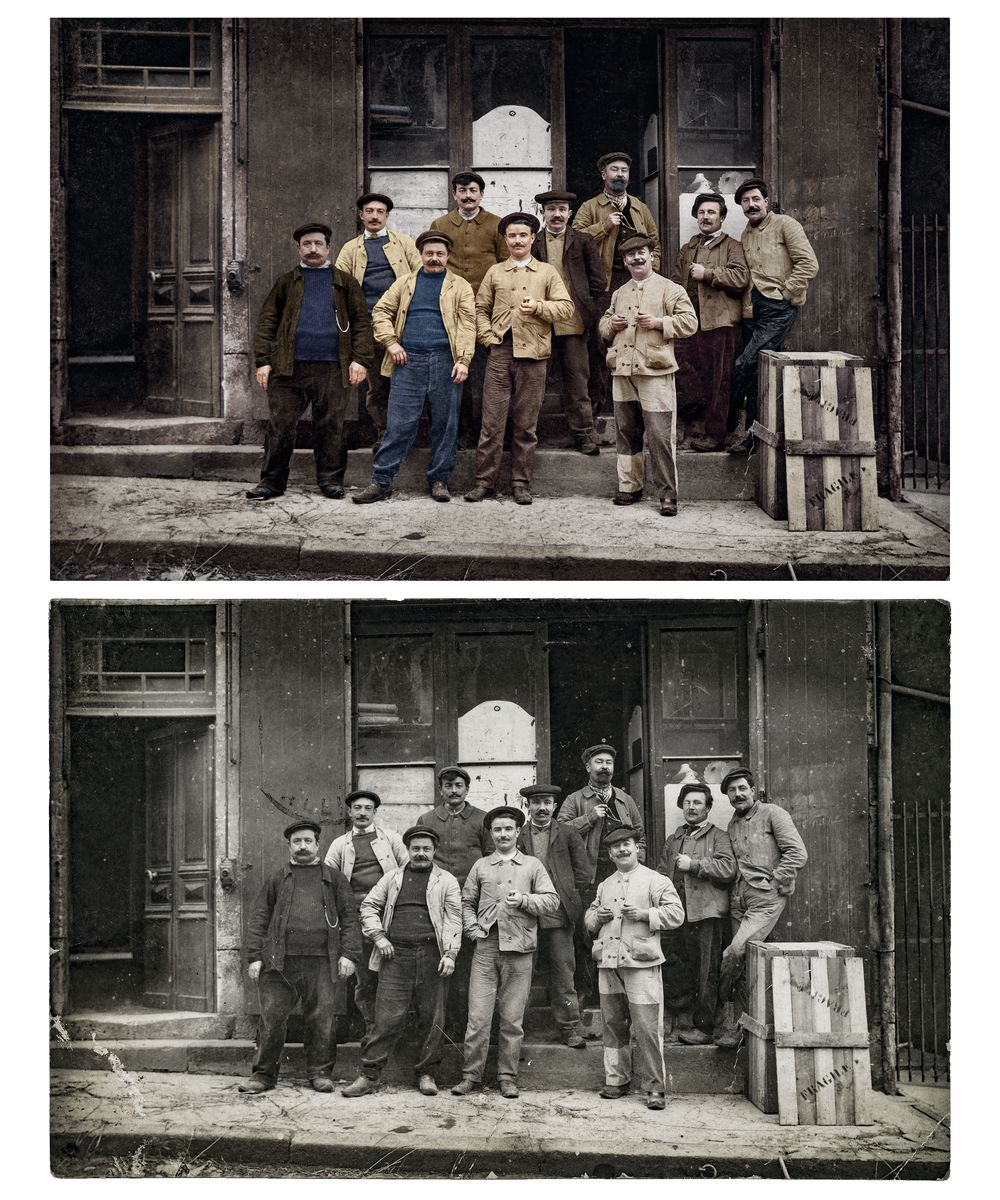 Factory workers composite