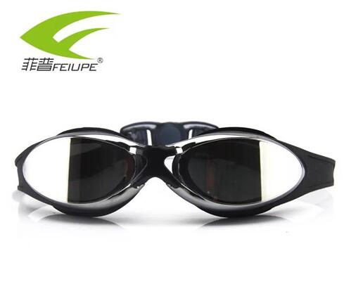 Men Women Silicone Swim Goggles Anti Fog Adult Swim Eyewear Electroplate Mirrored Waterproof Swim Glasses - agitra