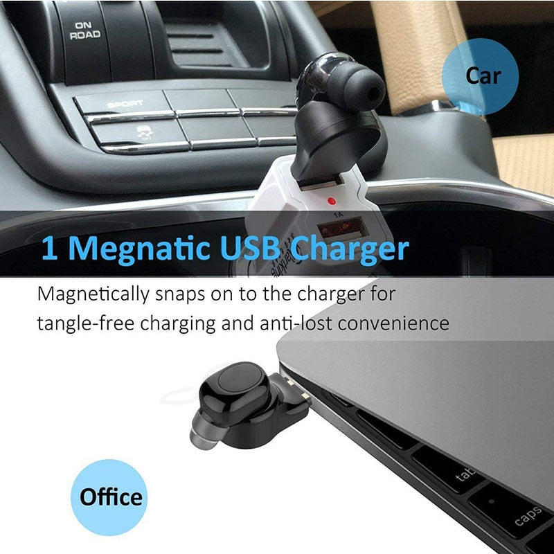 Mini Wireless Bluetooth Headset X11 Car Bluetooth Earphone - agitra