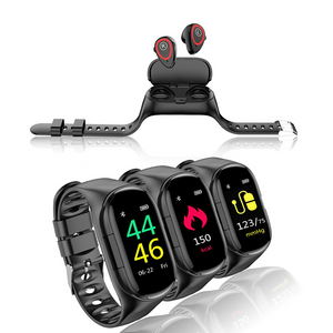 【HOT!】2 in 1 Smart Watch With Bluetooth Earphones - agitra