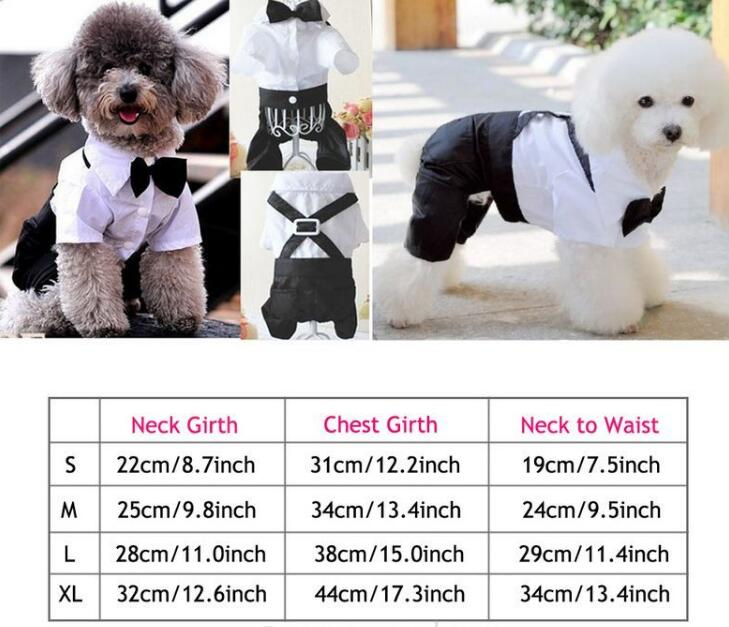Pet Costumes Handsome Dog Rompers Clothing - agitra