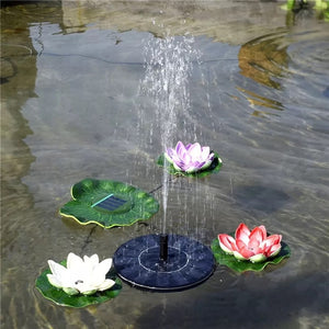 Floating Solar Panel Water Fountain For Garden - agitra