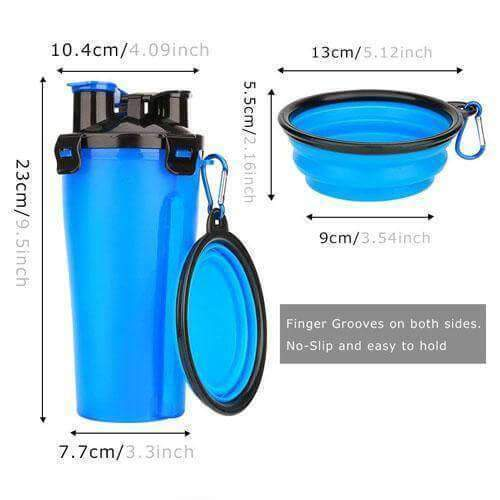 2 In 1 Dog Water Bottle - agitra