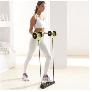 Double Wheel Abdominal Power Wheel Ab Roller - agitra