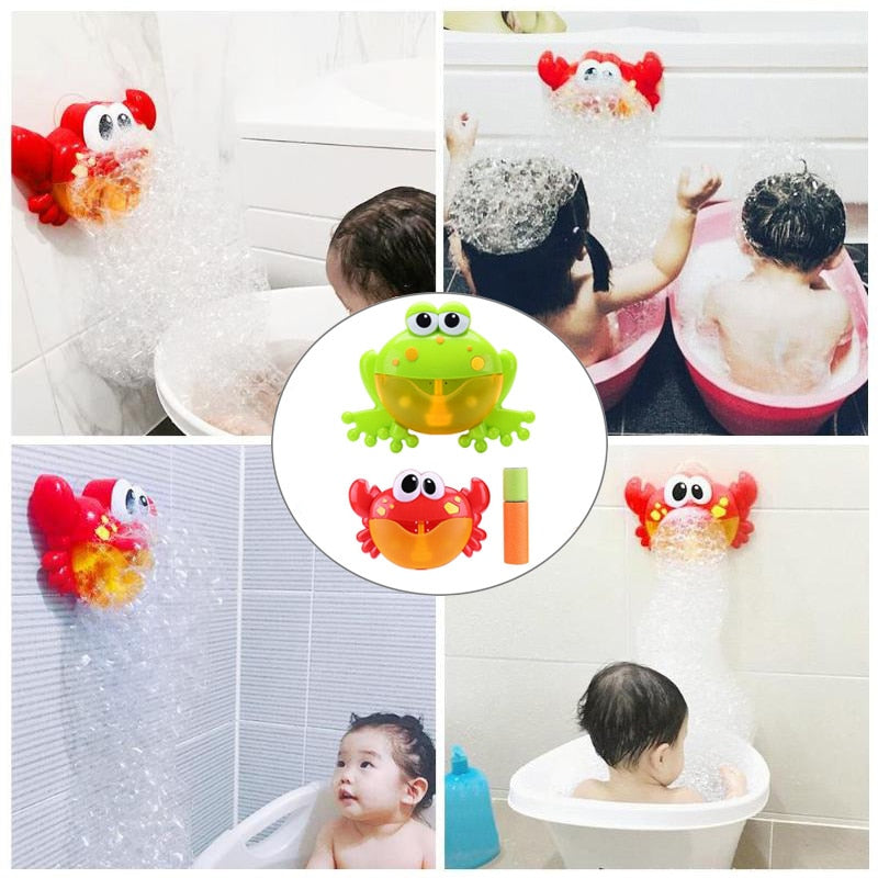 Crab Bubble Machine Bath Toy - agitra