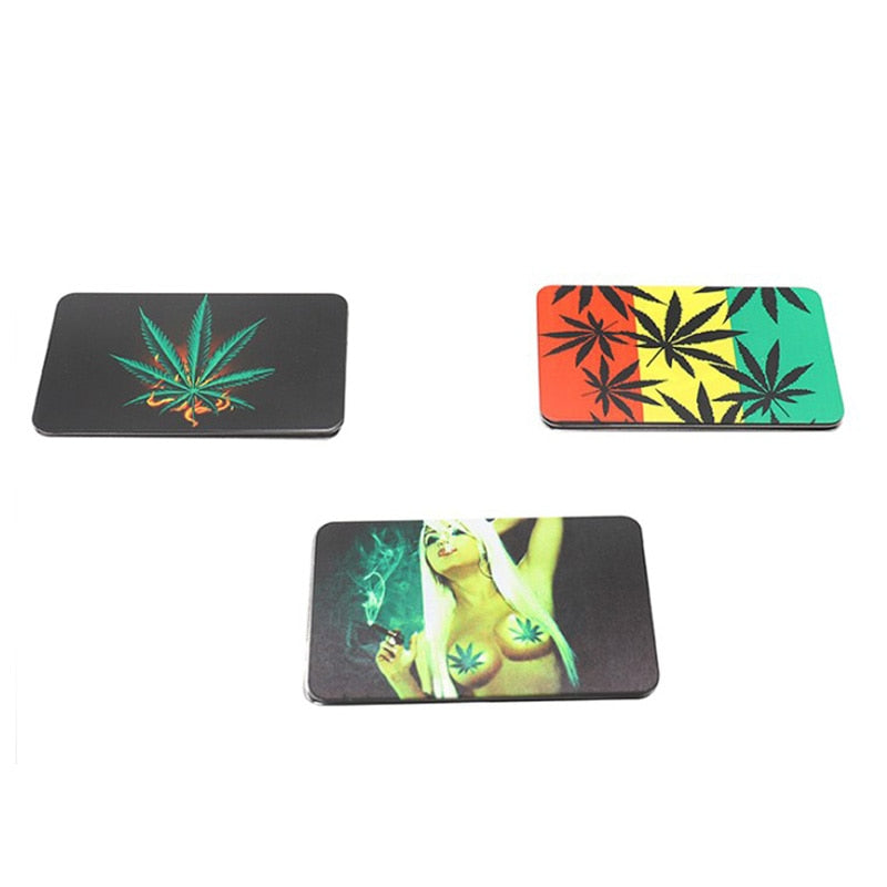 Credit Card shaped Herb Grinder & Smoking Pipe - agitra
