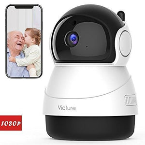 Victure FHD WiFi IP Wireless Indoor Night Vision Motion Detection Camera 1080P - agitra