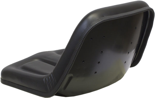 CASE TRENCHER SEAT ASSEMBLY - FITS VARIOUS MODELS - BLACK VINYL