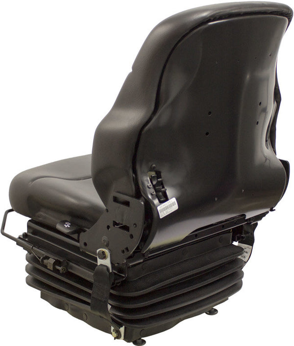 CASE DOZER SEAT - FITS VARIOUS MODELS -  BLACK VINYL - MECHANICAL SUSPENSION