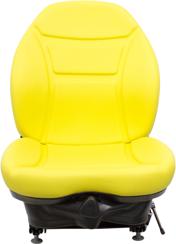 Case Skid Steer Seat & Mechanical Suspension - Fits Various Models - Yellow Vinyl