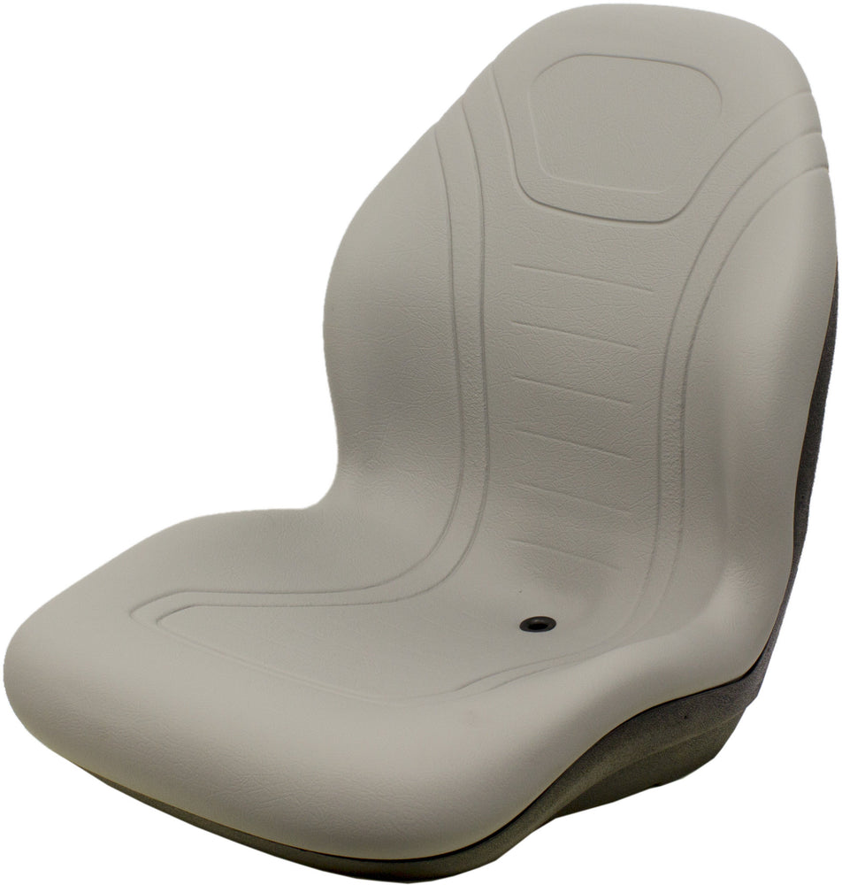 Lay-Mor Sweeper Bucket Seat - Fits Various Models - Gray Vinyl