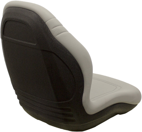 Toro Lawn Mower Bucket Seat - Fits Various Models - Gray Vinyl
