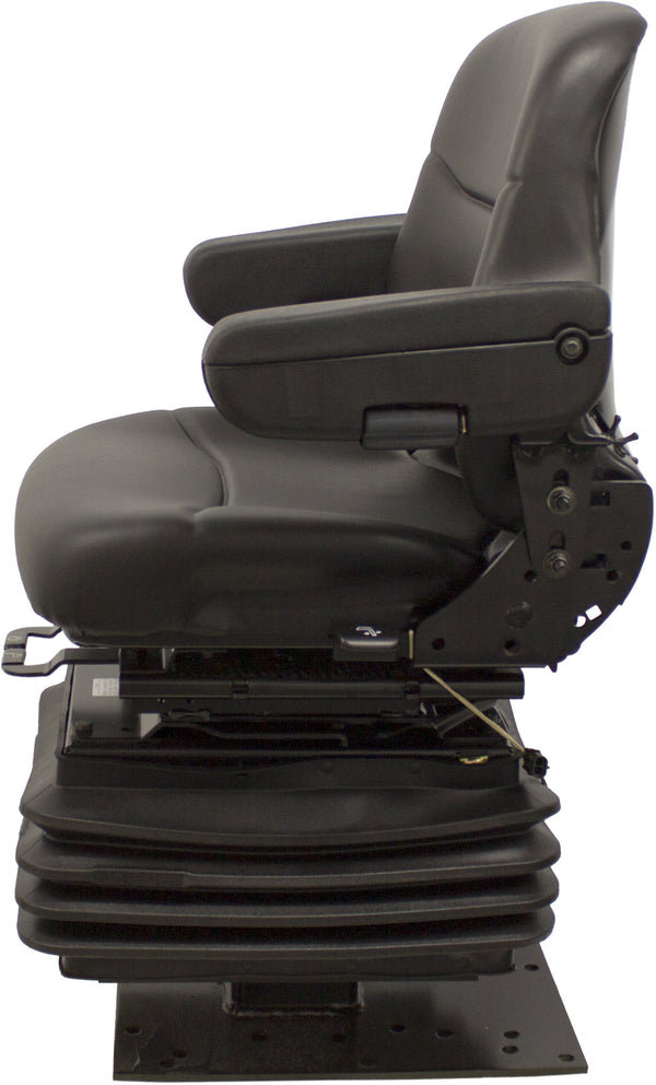 Case Loader/Backhoe Seat & Air Suspension - Fits Various Models - Black Vinyl