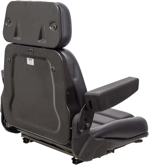 Steiger Tractor Seat Assembly - Fits Various Models - Black Vinyl