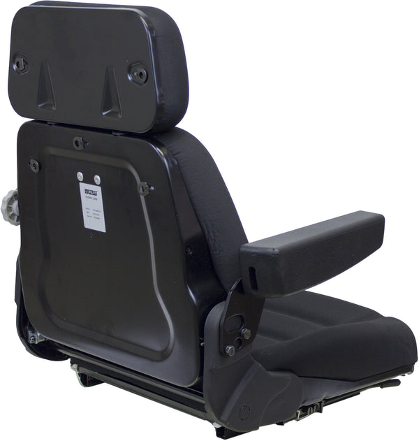 Steiger Tractor Seat Assembly - Fits Various Models - Black Cloth