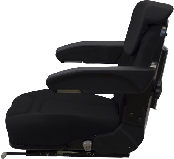 International Harvester Tractor Seat Assembly - Fits Various Models - Black Cloth