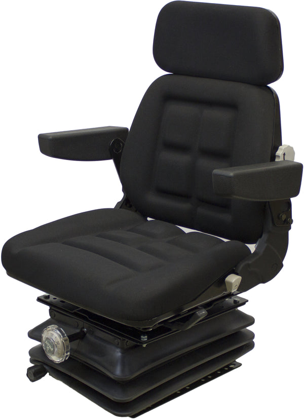 Ford/New Holland Tractor Seat & Mechanical Suspension - Fits Various Models - Black Cloth
