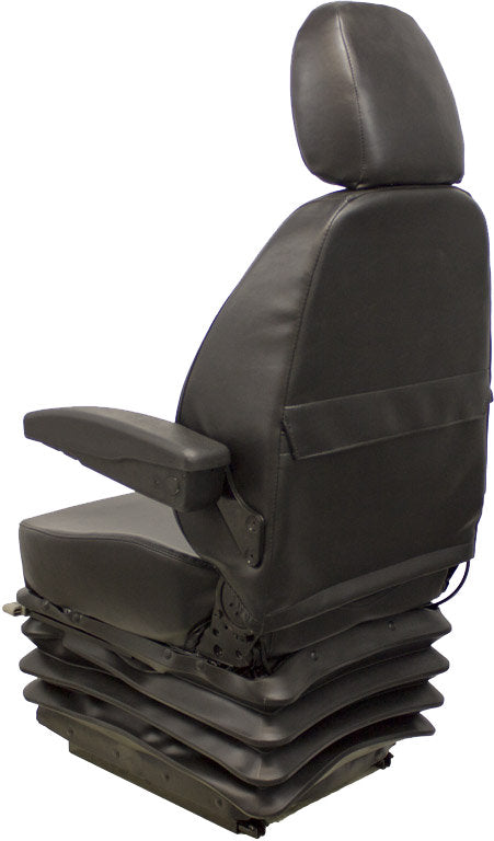 Hitachi Zaxis Excavator Seat & Mechanical Suspension - Fits Various Models - Black Vinyl