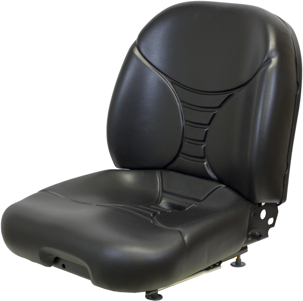 MUSTANG SKID STEER SEAT ASSEMBLY - FITS VARIOUS MODELS - BLACK VINYL