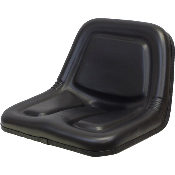 Cub Cadet Lawn Mower Replacement Bucket Seat - Fits Various Models - Black Vinyl