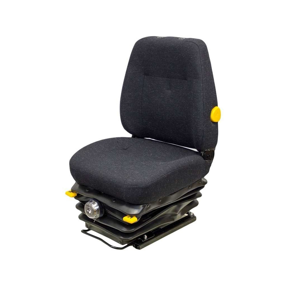 Daewoo Excavator Seat & Mechanical Suspension - Fits Various Models - Black Cloth