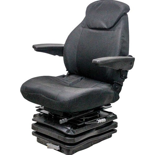 International Harvester 86-88 Series Tractor Seat & Mechanical Suspension - Fits Various Models - Black Cloth