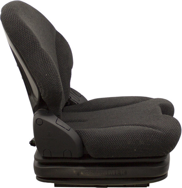 Caterpillar 904H Wheel Loader Seat & Air Suspension - Black Cloth