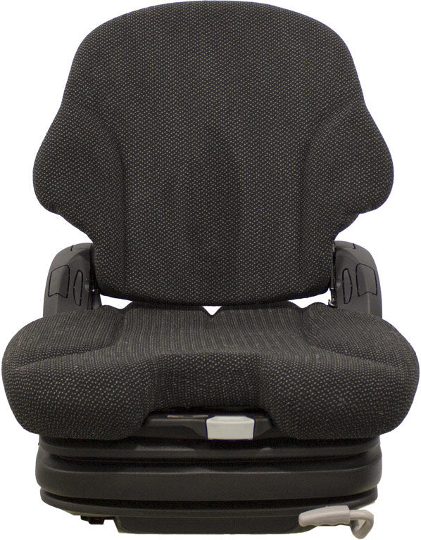 CROWN FORKLIFT SEAT ASSEMBLY - FITS VARIOUS MODELS - BLACK CLOTH - AIR SUSPENSION