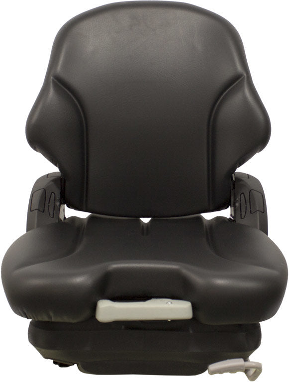 Case Roller Seat & Mechanical Suspension - Fits Various Models - Black Vinyl