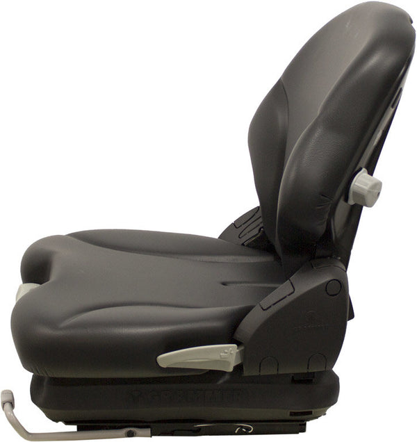 Crown Forklift Seat and Mechanical Suspension - Fits Various Models - Black Vinyl